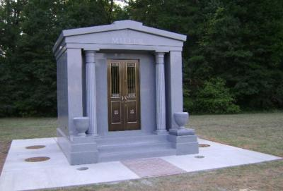 Granite mausoleum design manufacturing shipping Mausoleum design