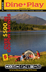 Publisher of Dine & Play, a handy guide for restaurants, activities, shopping, maps, entertainment for Grand County, CO.