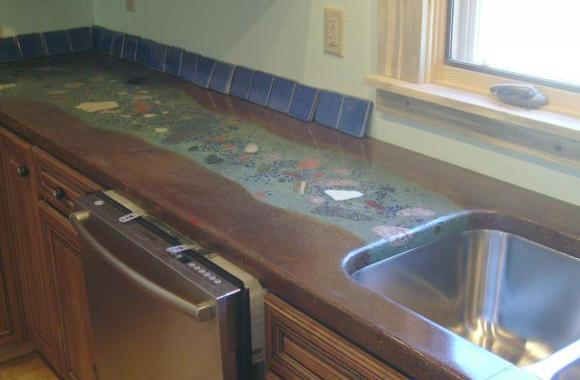 We did this countertop in a 100 year old adobe restoration