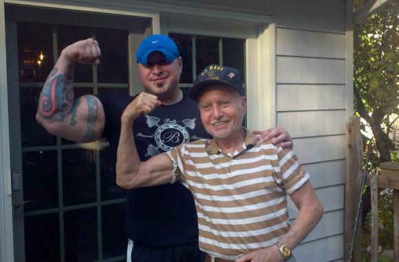 My oldest client, John Castellano!! 84yrs young and still getting in better and better shape.. :)