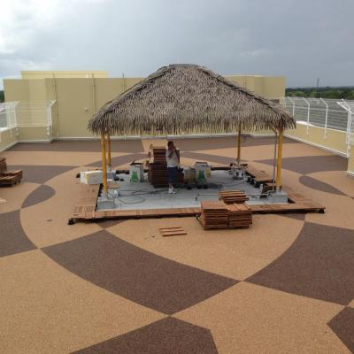 Decorative concrete outdoor kitchen flooring services for Chattahoochee floor