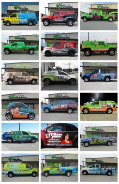 These amazing vehicle wraps were designed, printed and installed by the experts at GFX Wraps!